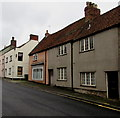 ST5546 : St Thomas Street towards Chantry Close, Wells by Jaggery