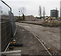 ST3188 : Rubble in a demolition site, Crindau, Newport by Jaggery