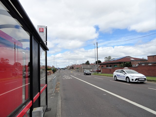 Bus stop on Old Durham Road