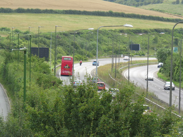 A23 though Pyecombe Junction
