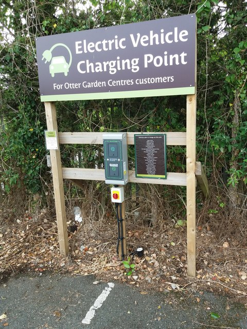Otter Garden Centre: electric car charging point