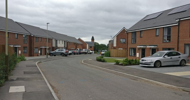 Pentland Close at St Mary's Park, Leicester