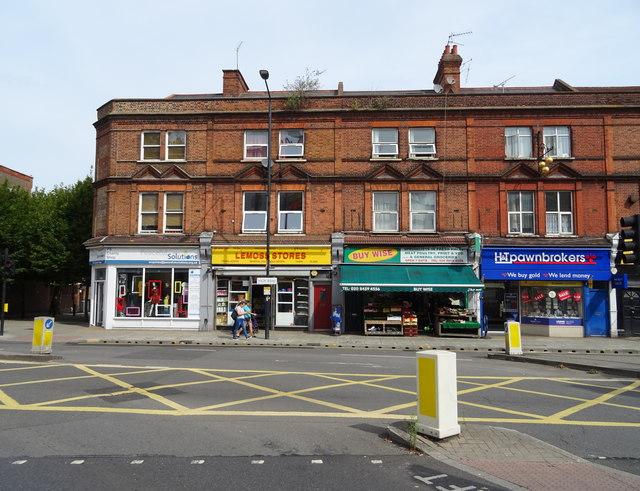Shops on High Road, Willesden, London