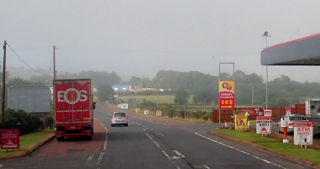 The B113 (Dublin Road) approaching the Killeen Border Crossing