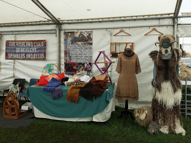 Highland Guild of Weavers, Spinners and Dyers at the Black Isle Show 2019