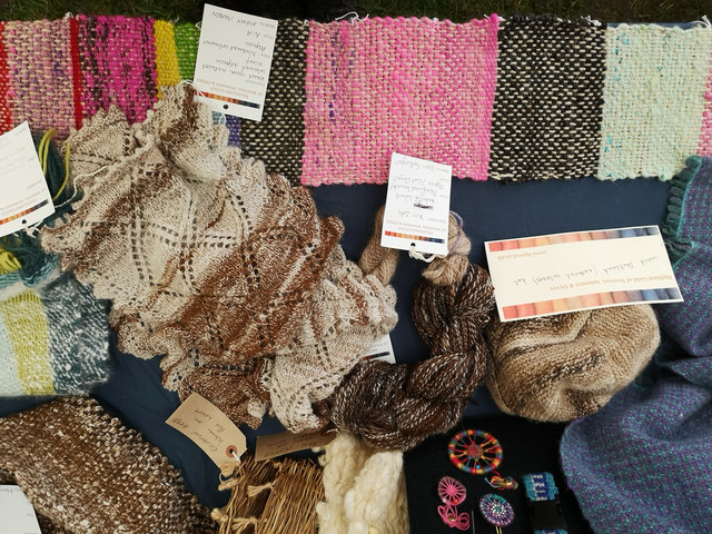 Exhibit of the Highland Guild of Spinners, Weavers and Dyers at the Black Isle Show, 2019