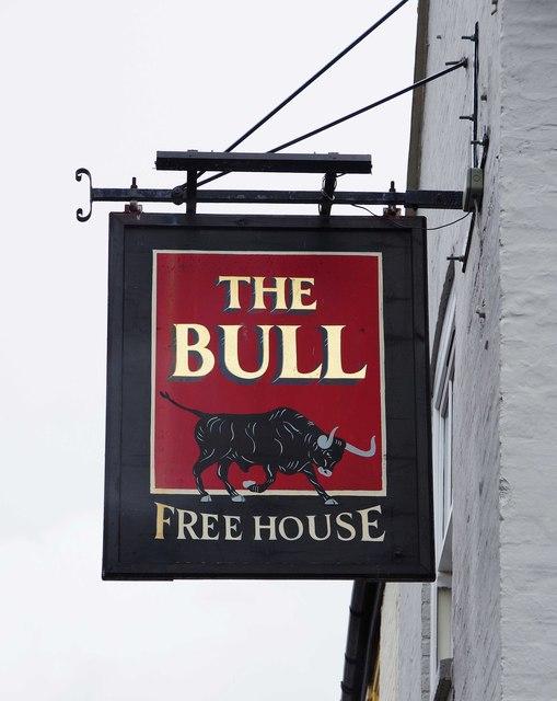The Bull (2) - sign, 41 Bridge Street, Fakenham, Norfolk