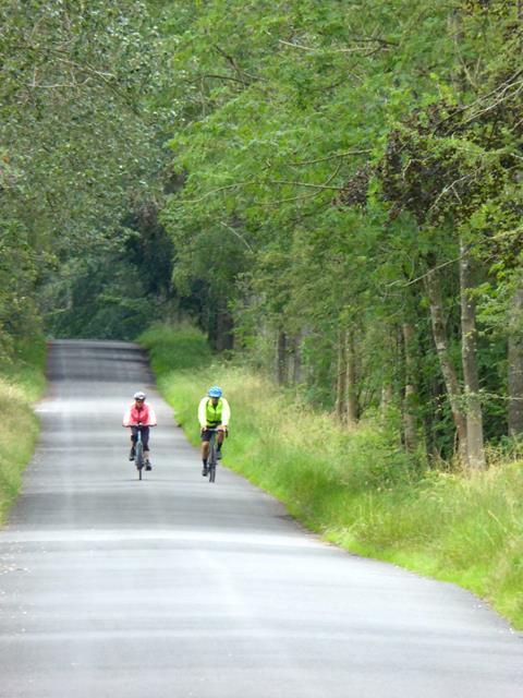 Cyclists on Morland Bank
