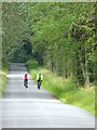 NY6117 : Cyclists on Morland Bank by Oliver Dixon