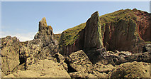 SX6643 : Rocks and cliffs near Long Stone by Derek Harper