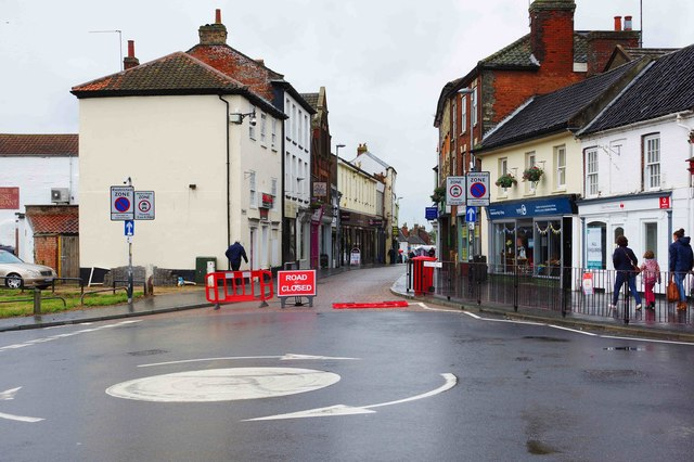 Temporary closure of part of Norwich Street, Fakenham, Norfolk
