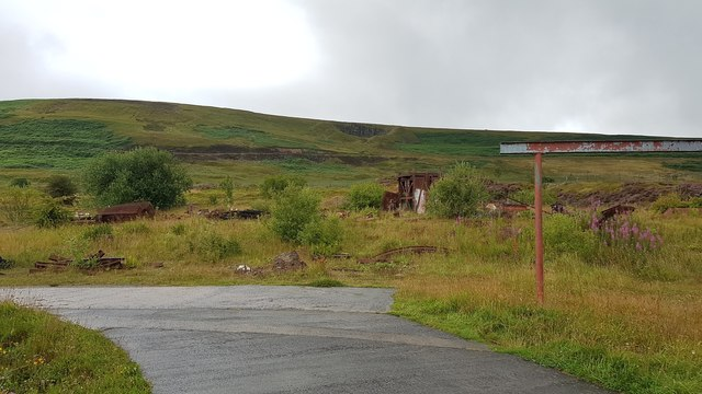 Disused shafts on the hill above the Big Pit mining museum