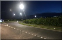 TA1079 : Muston Road at the junction of Moor Road by David Howard