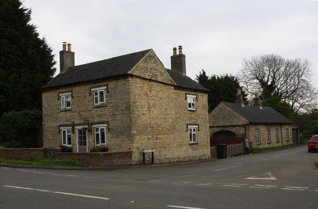 'The Old Forge' at the junction of the A607 and Saltby Road