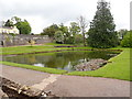 SN5822 : Pond, Aberglasney by Eirian Evans