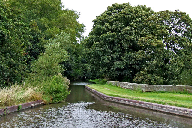 Aqueduct across the River Sow in Staffordshire