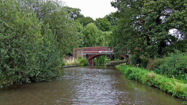 Canal at Tixall Bridge near Great Haywood, Staffordshire