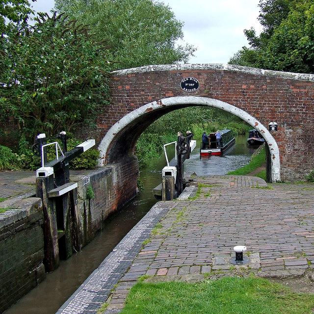 Tixall Lock near Great Haywood in Staffordshire