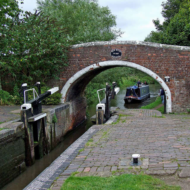 Tixall Lock near Great Haywood in Staffordshire