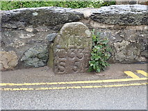 SH1726 : Old milestone on Aberdaron bridge by Eirian Evans