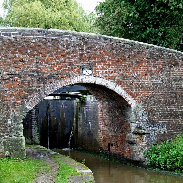 Old Hill Bridge and Lock near Tixall, Staffordshire