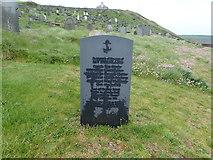 SH1726 : Memorial gravestone, St Hywyn's Church by Eirian Evans