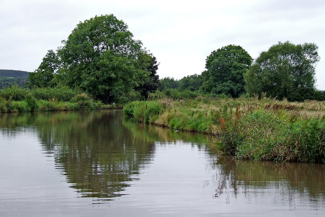 Trent and Mersey Canal near Hixon in Staffordshire