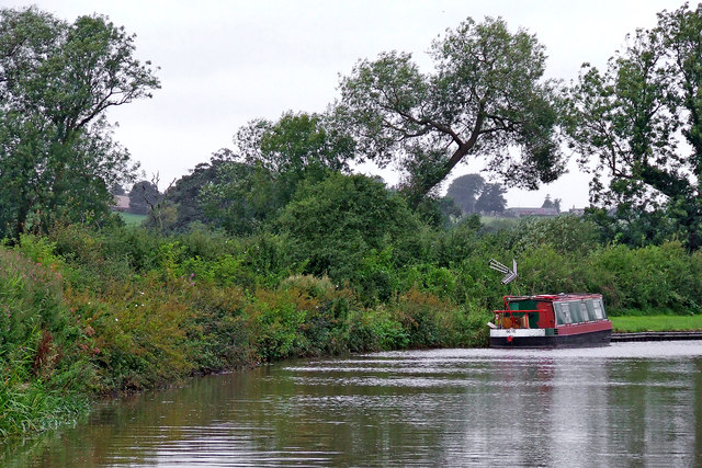 Trent and Mersey Canal near Weston in Staffordshire