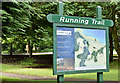 J4682 : Running trail information sign, Crawfordsburn Country Park (August 2019) by Albert Bridge