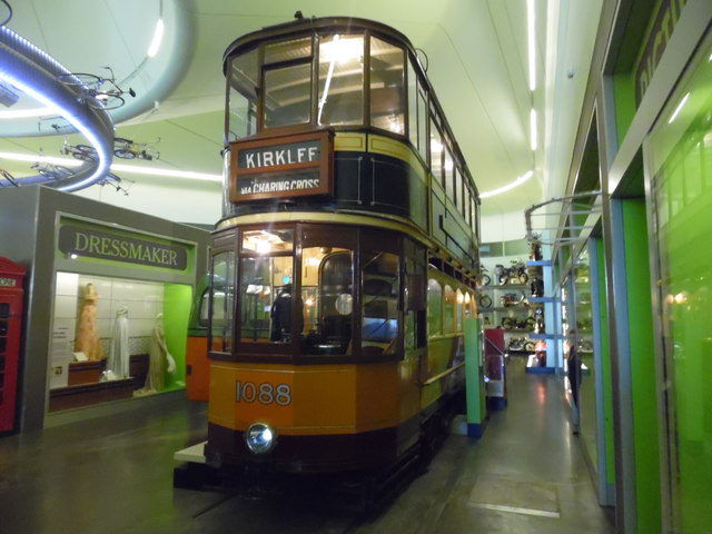 Glasgow tramcar 1088 in the Riverside Museum