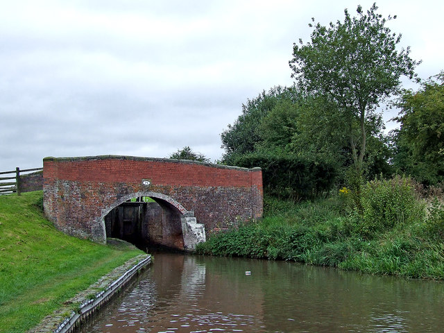 Brinepit Bridge south of Weston-on-Trent in Staffordshire