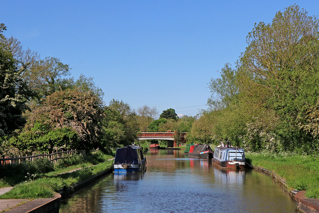 Trent and Mersey Canal north of Rugeley in Staffordshire