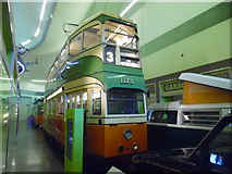 NS5565 : Glasgow tramcar 1173 in the Riverside Museum by David Hillas