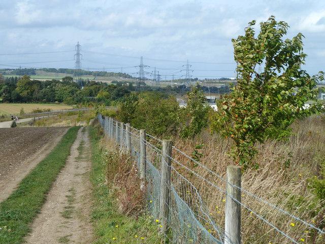 Bridleway by railway