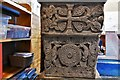 NY1133 : Bridekirk, St. Bridget's Church: Norman font, southern aspect by Michael Garlick