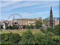 NT2573 : Princes Street Gardens, The Festival Wheel and Scott Monument by David Dixon