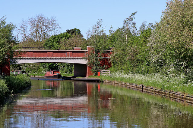 Canal bridge north of Rugeley in Staffordshire