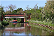 SK0419 : Canal bridge north of Rugeley in Staffordshire by Roger  Kidd