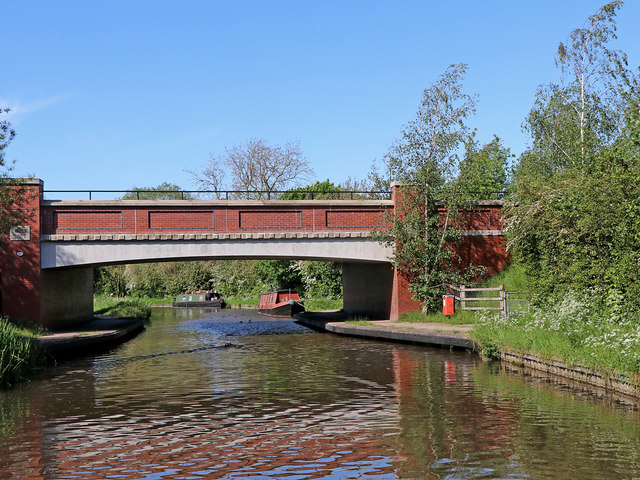 Rugeley By-Pass Bridge in Staffordshire