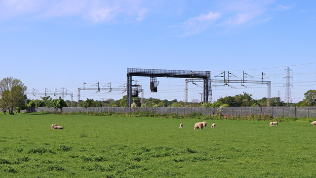 Canalside pasture north of Rugeley in Staffordshire