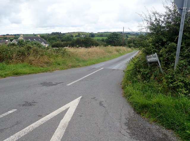 The southern end of Barkers Road