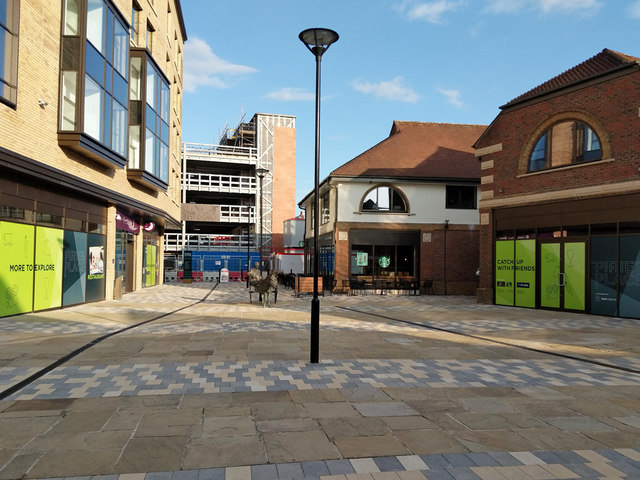 Redeveloped area, Horsham town centre