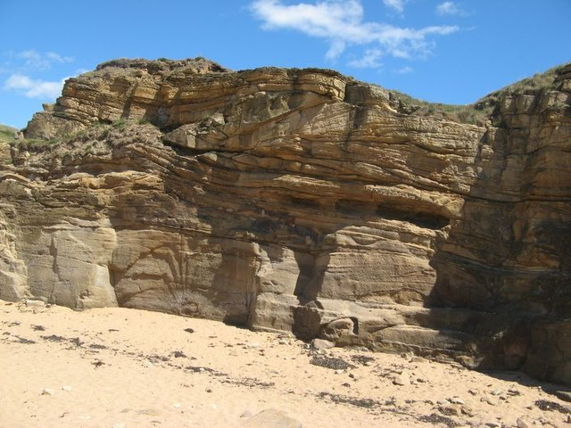 Channelled sandstones