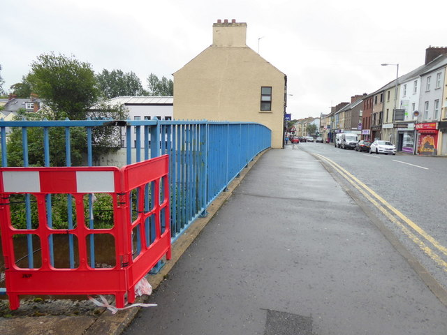 Damaged railings, Campsie, Bridge, Omagh