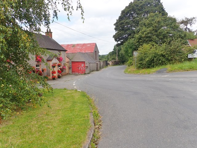 Colourful cottages at the junction of Cullyhanna and Skerriff Roads