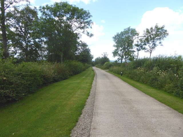 Driveway to Burwain Hall