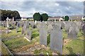 SH7501 : Slate Tombstones, Machynlleth Cemetery by Des Blenkinsopp