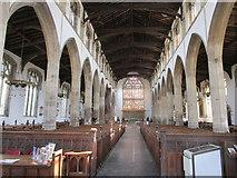 TF6120 : St. Nicholas, King's Lynn: interior looking east by Jonathan Thacker
