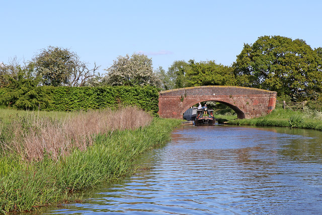 Canal at Taft Bridge east of Colwich, Staffordshire