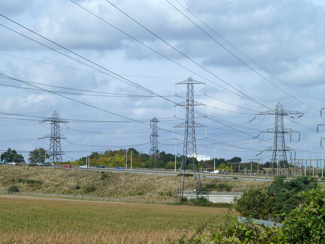 A lot of power lines